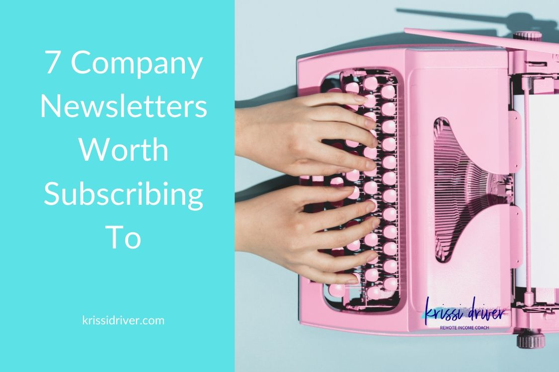 subscribe to company newsletters